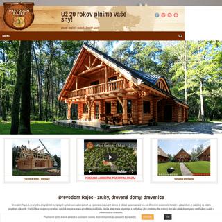 Drevodom Rajec - zruby, drevené domy, drevenice - Hlavná stránka