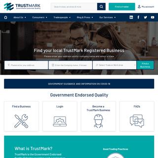 ArchiveBay.com - trustmark.org.uk - TrustMark Tradespeople - Government Endorsed Quality
