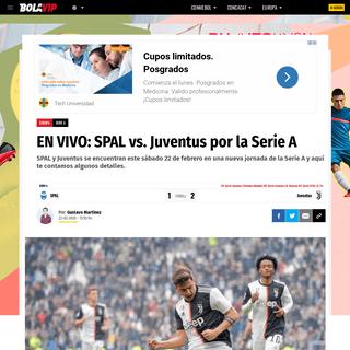 EN VIVO- SPAL vs. Juventus por la Serie A - Bolavip
