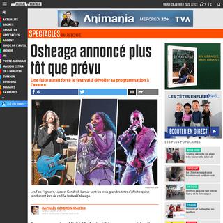 Osheaga annoncé plus tôt que prévu - Le Journal de Montréal