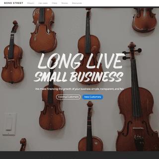 Bond Street - Simple, transparent, fair business financing