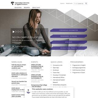 Amsterdam University of Applied Sciences - education and research - Amsterdam University of Applied Sciences