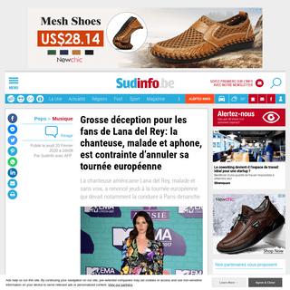 ArchiveBay.com - www.sudinfo.be/id168680/article/2020-02-20/grosse-deception-pour-les-fans-de-lana-del-rey-la-chanteuse-malade-et-aphone-est - Grosse déception pour les fans de Lana del Rey- la chanteuse, malade et aphone, est contrainte d'annuler sa tournée europée