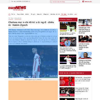 ArchiveBay.com - vtc.vn/bong-da-anh/chelsea-muon-chi-45-trieu-bang-de-chieu-mo-hakim-ziyech-ar527238.html - Chelsea muốn chi 45 triệu bảng để chiêu mộ Hakim Ziyech - VTC News