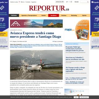 ArchiveBay.com - www.reportur.com/aerolineas/2020/02/13/avianca-express-tendra-nuevo-presidente-santiago-diago/ - Avianca Express tendrá como nuevo presidente a Santiago Diago - Noticias de turismo REPORTUR
