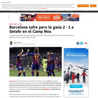 ArchiveBay.com - us.as.com/us/2020/02/15/futbol/1581789607_904536.html - Barcelona sufre pero le gana 2 - 1 a Getafe en el Camp Nou - AS USA