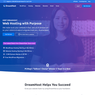 DreamHost - Web Hosting For Your Purpose
