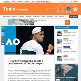 Diego Schwartzman apuesta a quedarse con el Córdoba Open • Diario Democracia