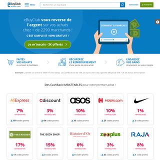Code Promo, CashBack et réductions - économisez avec eBuyClub
