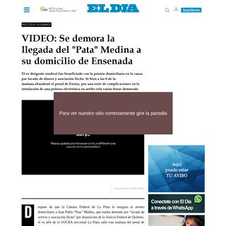 VIDEO- Se demora la llegada del -Pata- Medina a su domicilio de Ensenada - Política y Economía