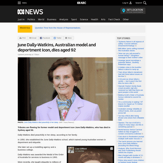 June Dally-Watkins, Australian model and deportment icon, dies aged 92 - ABC News (Australian Broadcasting Corporation)