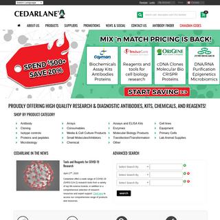ArchiveBay.com - cedarlanelabs.com - High Quality Antibody Research Lab & Reagent Manufacturing - Cedarlane