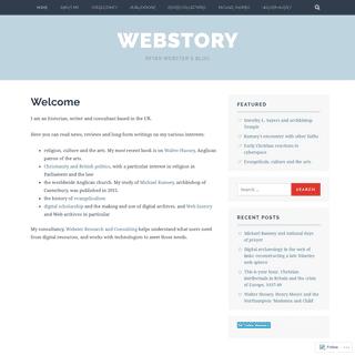 Webstory – Peter Webster's blog