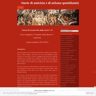 Storie di amicizia e di urbana quotidianità - Poesie di Orazio lette dalla classe V D (anno scolastico 2010-2011)