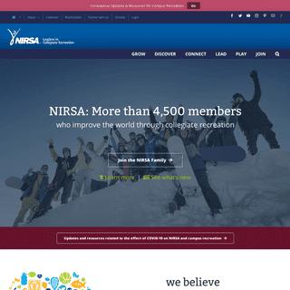 NIRSA – Leaders in Collegiate Recreation