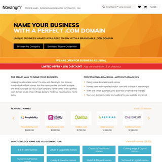 Find Your New Business Name. Try our Name Generator – Novanym