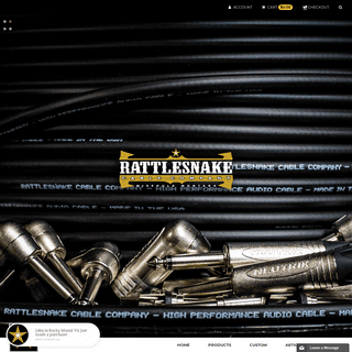 Rattlesnake Cable Company - High quality instrument and guitar cables
