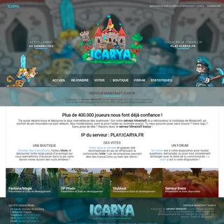 Serveur Minecraft Icarya - Serveur Faction Magie Skyblock Prison