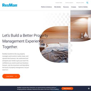 Property Management Software for Every Portfolio - ResMan