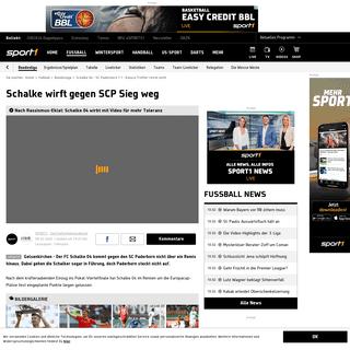 ArchiveBay.com - www.sport1.de/fussball/bundesliga/2020/02/fc-schalke-04-sc-paderborn-07-1-1-kutucu-tor-reicht-nicht - Schalke 04 - SC Paderborn 1-1 - Kutucu-Treffer reicht nicht