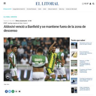 ArchiveBay.com - www.ellitoral.com/index.php/id_um/226963-aldosivi-vencio-a-banfield-y-se-mantiene-fuera-de-la-zona-de-descenso-superliga-argentina-de-futbol--fecha-21-deportes.html - Aldosivi venció a Banfield y se mantiene fuera de la zona de descenso - - El Litoral - Noticias - Santa Fe - Argentina - ellito