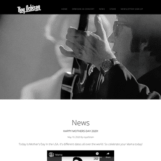 Roy Orbison - The Official Website of The Soul of Rock and Roll – The Official Website of The Soul of Rock and Roll