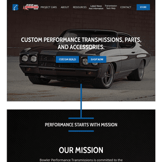Bowler Performance Transmissions - Performance Transmissions, Tremec Elite, Parts, and Accessories.
