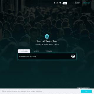 Social Searcher - Free Social Media Search Engine