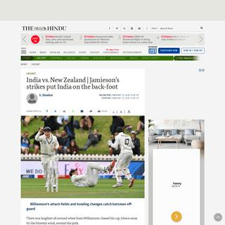 India vs. New Zealand - Jamieson's strikes put India on the back-foot - The Hindu