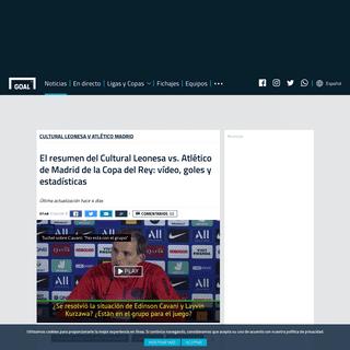 El resumen del Cultural Leonesa vs. Atlético de Madrid de la Copa del Rey- vídeo, goles y estadísticas - Goal.com
