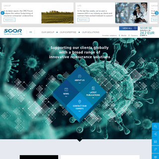 SCOR.COM - Supporting our clients globally with a broad range of innovative reinsurance solutions