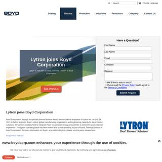 Lytron joins Boyd Corporation