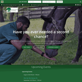 Front Page - Thoroughbred Retirement Foundation