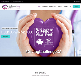 Bethanys Hope Foundation – Live for the Cure
