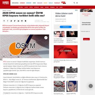 2020 KPSS sınavı ne zaman- ÖSYM KPSS başvuru tarihleri belli oldu mu- - Son Dakika Haberleri