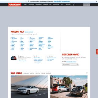 Stiri auto, vanzari masini noi si second-hand, promotii, adrese dealeri si importatori - AutoMarket