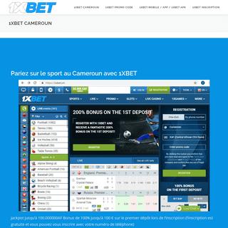 1xBet Cameroun - Pariez sur le sport au cameroun avec 1xbet - Mobile