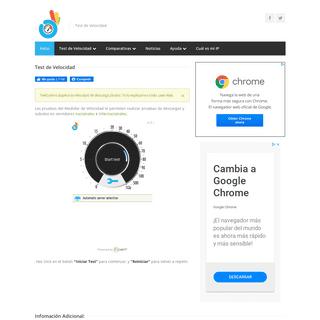 Test de Velocidad - Medí la velocidad de tu conexión a Internet en forma precisa