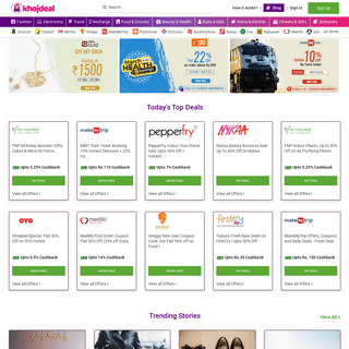 Khojdeal- Coupons, Promo Codes, Deals & Cashback Offers