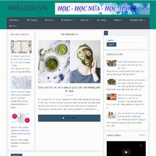 wru.edu.vn – Blog sức khỏe và thời trang