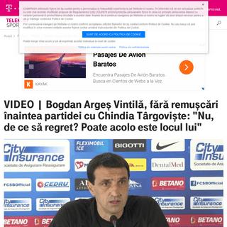 VIDEO - Bogdan Argeş Vintilă, fără remuşcări înaintea partidei cu Chindia Târgovişte- -Nu, de ce să regret- Poate acol