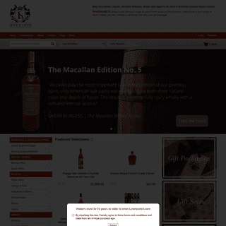 Online Liquor Store - Buy Liquor, Best Scotch Whisky, Wine & Spirits at Lovescotch.com