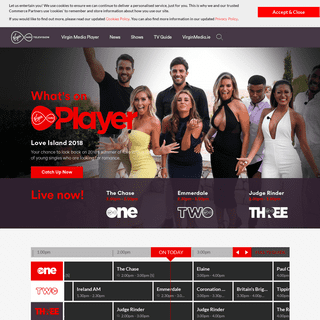 Virgin Media Television - Live and On-Demand on Virgin Media Player (formerly TV3 and 3player)