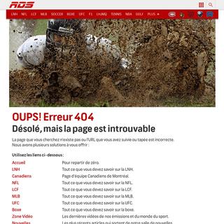 Error 404 - RDS.ca
