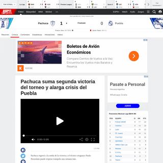 ArchiveBay.com - espndeportes.espn.com/futbol/reporte?juegoId=561924 - Pachuca vs. Puebla - Reporte del Partido - 15 febrero, 2020 - ESPN