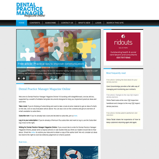 ArchiveBay.com - dpmmagonline.co.uk - Dental Practice Manager Magazine - Home