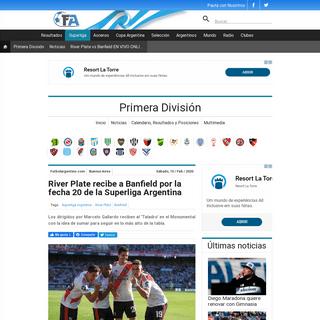 River Plate recibe a Banfield por la fecha 20 de la Superliga Argentina