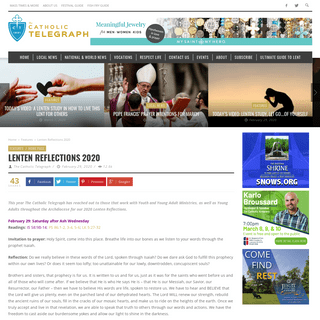 Lenten Reflections 2020 – Catholic Telegraph