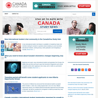 Canada Study News - Canada Study News - The newsletter for international students in Canada