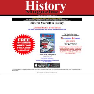 History Magazine - Home